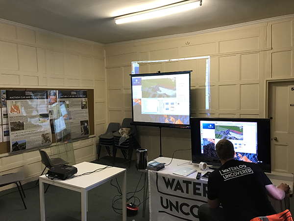 Our setup for the virtual tour of Hougoumont