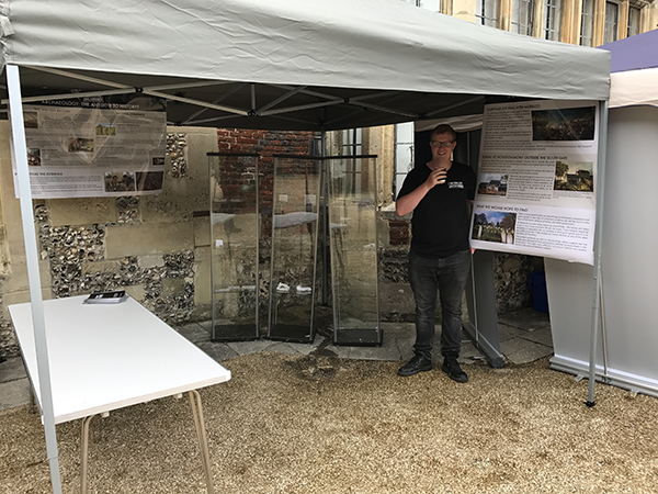 Mike on the Waterloo Uncovered stand