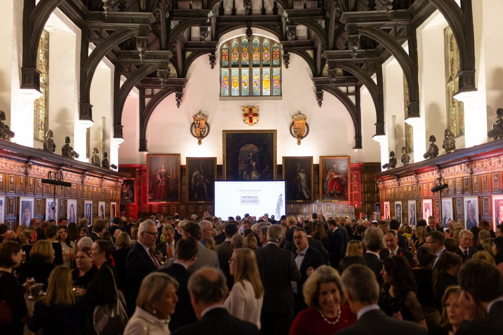 A large crowd gathered in the historic Middle Temple Hall for the A Night To Remember event
