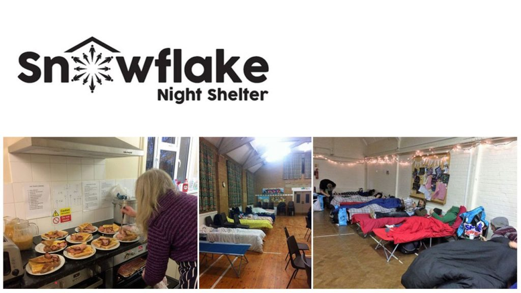 Images of the catering and sleeping facilities in the Snowflake Night Shelter in East Sussex