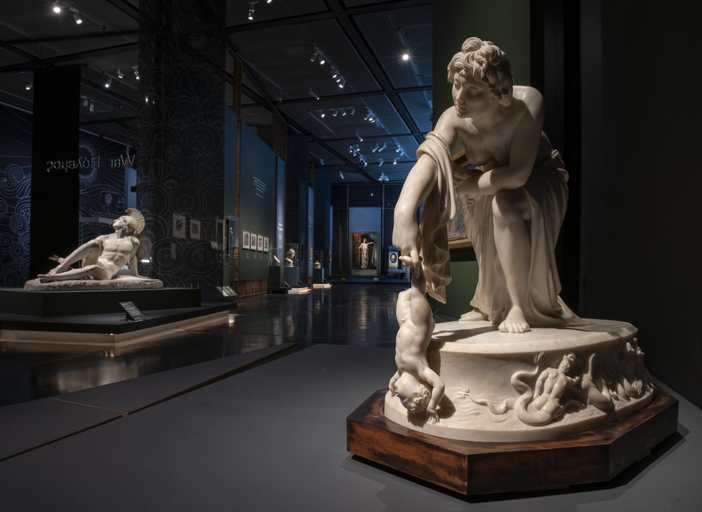 Some of the sculptures on display in the  British Museum as part of the Troy: Myth and Reality exhibition
